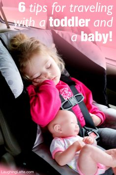 6 tips for traveling with a toddler and a baby to make vacation road trips easier on not only the kids, but the whole family!! - Laughing Latte