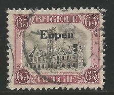 Belgium German Occupation Eupen Stamp Scott #IN37 from Quality Old Album 1920