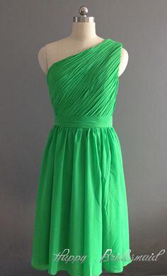 88.00$  Buy here - http://vipiv.justgood.pw/vig/item.php?t=0uudqv035482 - Customized Hand Make Bridesmaid Dress, One Shoulder Light Green Bridesmaid Dress 88.00$