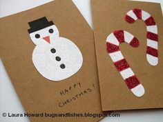 diy christmas card :DIY Christmas Cards & Advent Garland