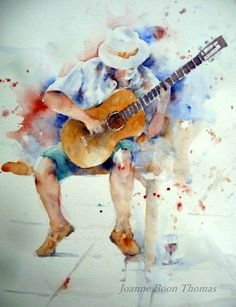 Joanne-Boon-Thomas-spanish guitar-painting-holidays