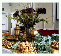 Display for catered party set up