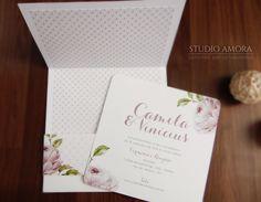 Convite casamento Camila & Vinícius