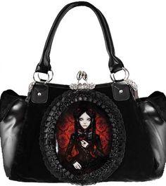 Lovely dark girl #Goth #Lolita handbag