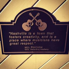 In Nashville getting ready for #GRAMMYNoms this Wednesday and look what we found! #Quote