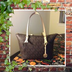 Just inMichael Kors Signature Tote Great buy.. Mk signature tote, used few times but in excellent condition like new.. Bought few months ago.. No flaws , no stains at all MICHAEL Michael Kors Bags Totes