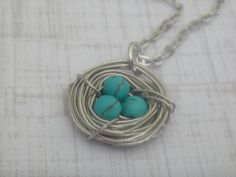 Birds nest necklace on #tophatter now!