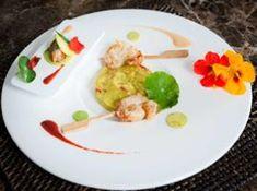 Guacamole minute, beignet crevettes Balck Qwehli | Guide Des Restaurants Gastronomiques Et Hôtels / Tables & Auberges