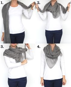 Ways to Tie Long Scarves | Four ways to tie a scarf – Good Housekeeping