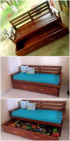 Over here we have stylish pallet sofa plan for your lounge with a large wooden drawer structure in its base. Over here we have stylish pallet sofa plan for your lounge with a large wooden drawer structure in its base.