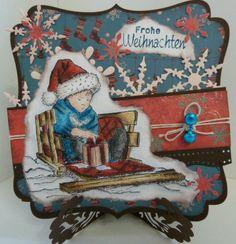 Weihnachtkarte mit Noor Design,Martha Steward, Go Kreate