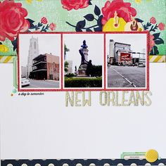 #papercraft #scrapbook #layout. New Orleans - Scrapbook.com