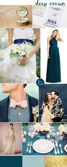 navy & gold contemporary & classic inspiration board for @Anna Totten Weiss