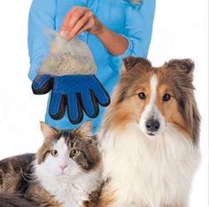 Guante Silicona True Touch suave y eficiente para Mascota Perro Gato Animal limpieza de baño cepillo – Comprar Gangas
