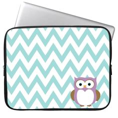 "Amazon.com: Elonbo 13 Inch Fashion Cute Striped and Owl Neoprene Laptop Soft Sleeve Case Bag Pouch Cover for 13"" Macbook Pro / Air HP Dell Acer: Computers & Accessories"