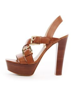 f8d9fa4dede9 MICHAEL Michael Kors Josephine Leather Platform Sandal