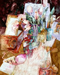 The New Vase & Cup Cakes - Shirley Trevena