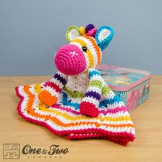 These are paid patterns - several other patterns - Rainbow Zebra Security Blanket Crochet Pattern
