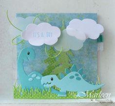 Carte dinosaure - Die BigShot Marianne Design CR1355 bordure herbe - COl1400…