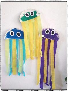 Méduses en assiettes en carton - Mes humeurs créatives