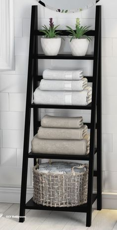 Legend Big DIY Bathroom Storage Ideas # Storage Ideas # bathroom # tool - DIY Home Decor Bathroom Towel Storage, Bathroom Towels, Vanity Bathroom, Towel Rack Bathroom, Storage Ideas For Bathroom, Design Bathroom, Bathroom Styling, Bathroom Canvas, Bathroom Faucets