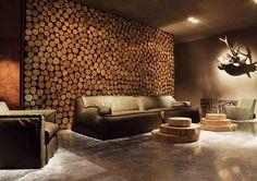 Деревянные спилы в интерьере