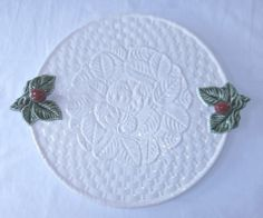 Studio Nova Hand Painted Strawberry Embossed Serving / Cake Plate - Portugal