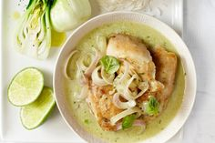 Fragrant with coconut, ginger and shallots, this Thai coconut chicken simmer is best served over jasmine rice or rice noodles. Photo by Jeff Coulson.