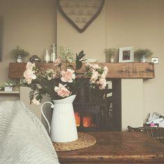 Cosy lounge with log burner