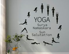 Símbolo de Yoga Pose pared vinilo calcomanía Yoga Studio pared