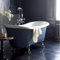 Traditional bathroom 396598310930249762 - This gallery features beautiful bathrooms with clawfoot tubs. Below you'll find pictures of a variety of clawfoot bathtub styles so you can find the one you like best and is ideal for your space. Glamorous Bathroom, Beautiful Bathrooms, Bad Inspiration, Bathroom Inspiration, Burlington Bathroom, Double Ended Bath, Dark Bathrooms, Luxury Bathrooms, Modern Bathrooms