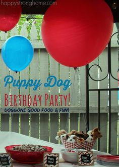Puppy Dog birthday party theme, with creative party favors, fun party foods and great decorating ideas.