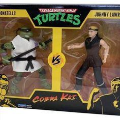 Playmates Toys #TeenageMutantNinjaTurtles vs. #CobraKai 2 Packs Pre-Orders #TMNT Teenage Mutant Ninja Turtles, Comic Books, Baseball Cards, Comics, Movie Posters, Film Poster, Cartoons, Cartoons, Comic