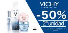 #Promoción 50% de #descuento en la 2ª unidad en productos de la marca #Vichy #farmacia #dermocosmética