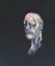 """Francis Bacon: Study for Portrait II (after the Life Mask of William Blake), 1955 - oil on canvas (Tate) """"This is one of a series based on the life mask of poet and painter William Blake. Bacon first. Francis Bacon, William Blake, Michel Leiris, George Grosz, Getty Museum, Art Uk, Magritte, Kandinsky, Portraits"""