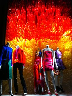 cool balloons pattern-not these colors    Color Exploration in Bergdorf Goodman windows, New York visual merchandising