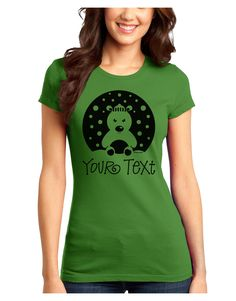 TooLoud Personalized Matching Polar Bear Family Design - Your Text Juniors T-Shirt