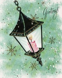such a lovely card..love the old fashioned lamp.