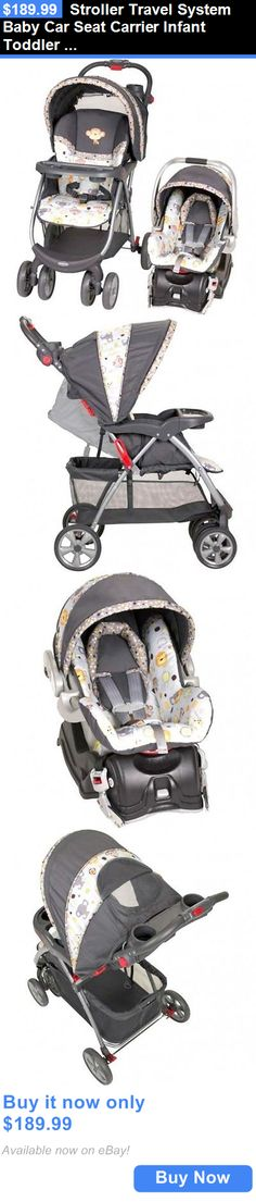 Baby: Stroller Travel System Baby Car Seat Carrier Infant Toddler Newborn Boys Safety BUY IT NOW ONLY: $189.99