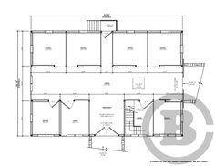 Circle B Barn Company -- Custom Built Barns, Arenas and Garages -- Barn Floorplan