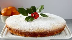 Vasalopita (Greek New Year's Cake) New Year's Cake, Holiday Treats, Vanilla Cake, Cheesecake, Greek, Desserts, Mediterranean Diet, Orange Juice, Recipes