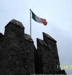Irish Flag atop Bunratty Castle