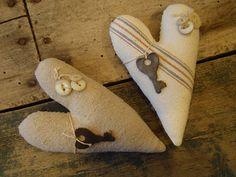 Heart pillows....