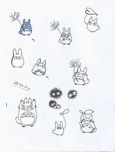 Love the small Totoro with the leaf in the bottom right corner. Ich liebe den kleinen Totoro mit dem Blatt in der unteren rechten Ecke. Tatuaje Studio Ghibli, Studio Ghibli Tattoo, Studio Ghibli Art, Tattoo Studio, Back Tattoos, Mini Tattoos, Future Tattoos, Body Art Tattoos, Small Tattoos