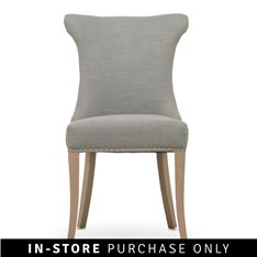 kaftan dining chair with ring grey