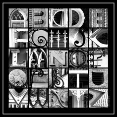 Alphabet  Photography  18 x  18 gloss print  B & by EllenHaganArt, $45.00
