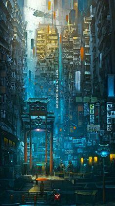 sci fi city / cyberpunk cityscape / Eastern urban / city lights / digital art Source by Cyberpunk City, Ville Cyberpunk, Cyberpunk Kunst, Futuristic City, Cyberpunk Anime, Fantasy Landscape, Landscape Art, Fantasy Art, Urban Landscape