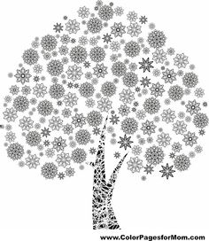 tree coloring page 11