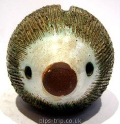 SOLD POTTERY ARCHIVES : British Pottery 2 : 1970's Briglin Pottery (London) Hedgehog Moneybox