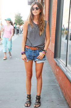 casual with gladiator sandals
